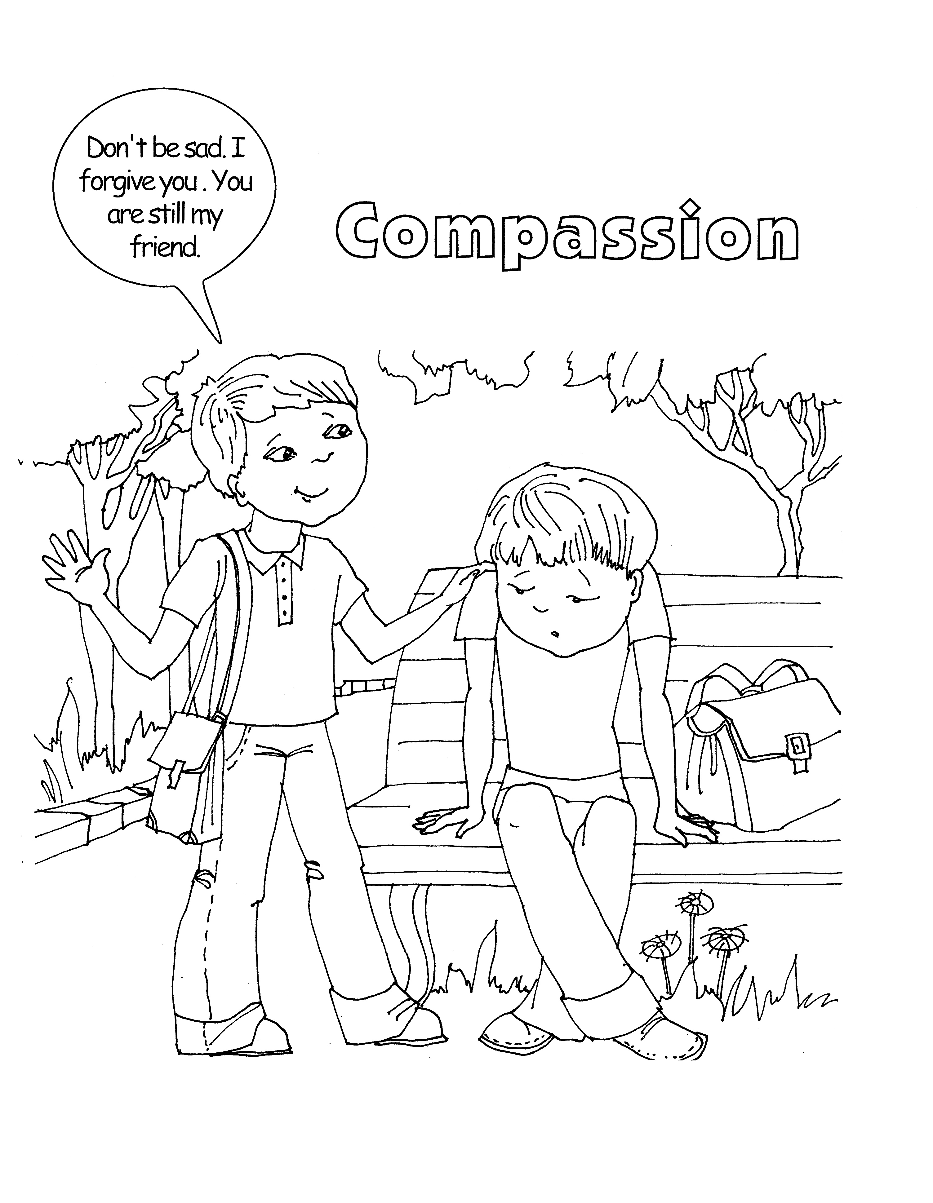 compassion coloring pages | 13: Compassion | Supporting the Core Activities